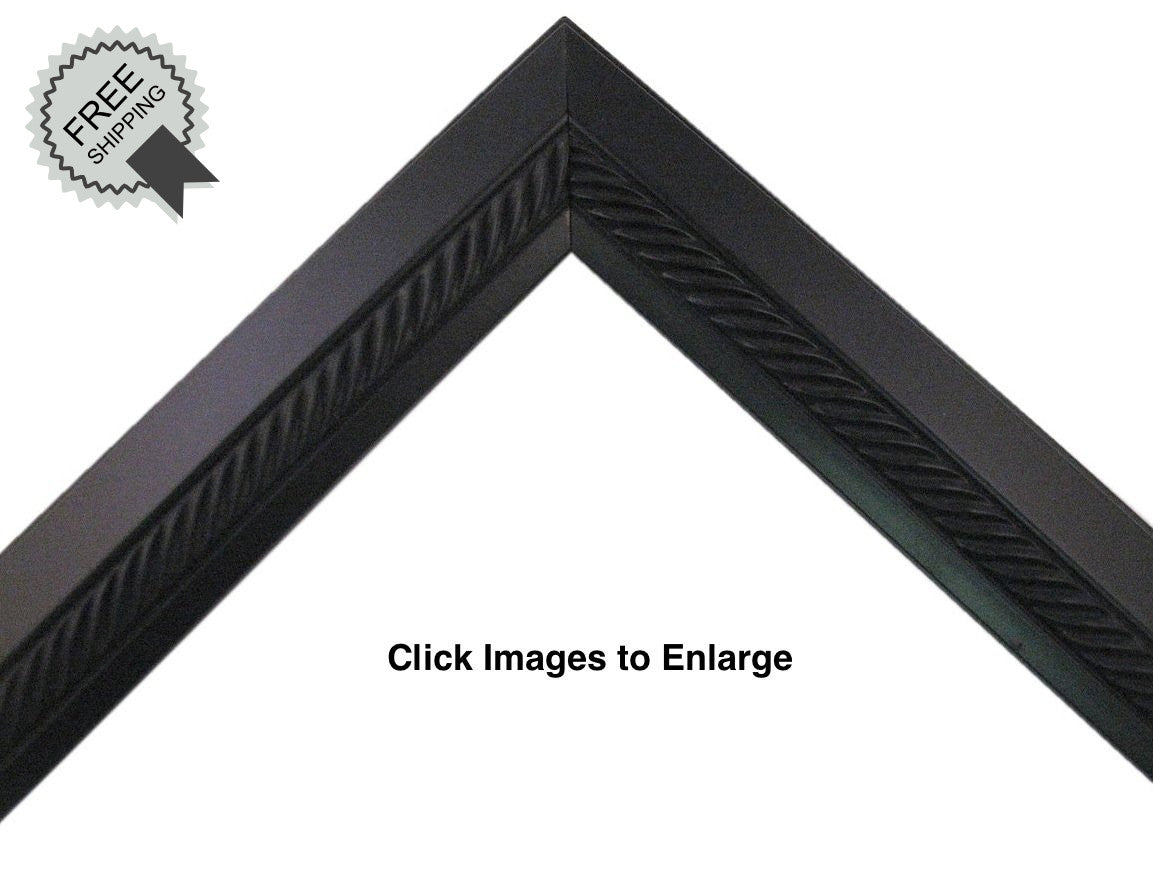 "Black with Braided Center Picture Frame 1"" deep profile, great for 3/4"" deep canvas--Sunbelt Mfg. Co."