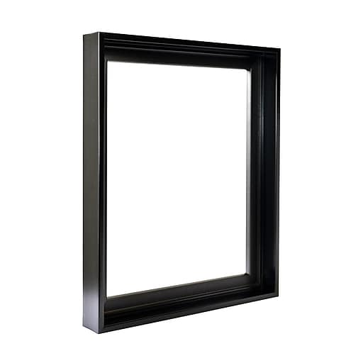 "Black Floater Picture Frame 1.5"" Deep, for 3/4"" deep canvas"