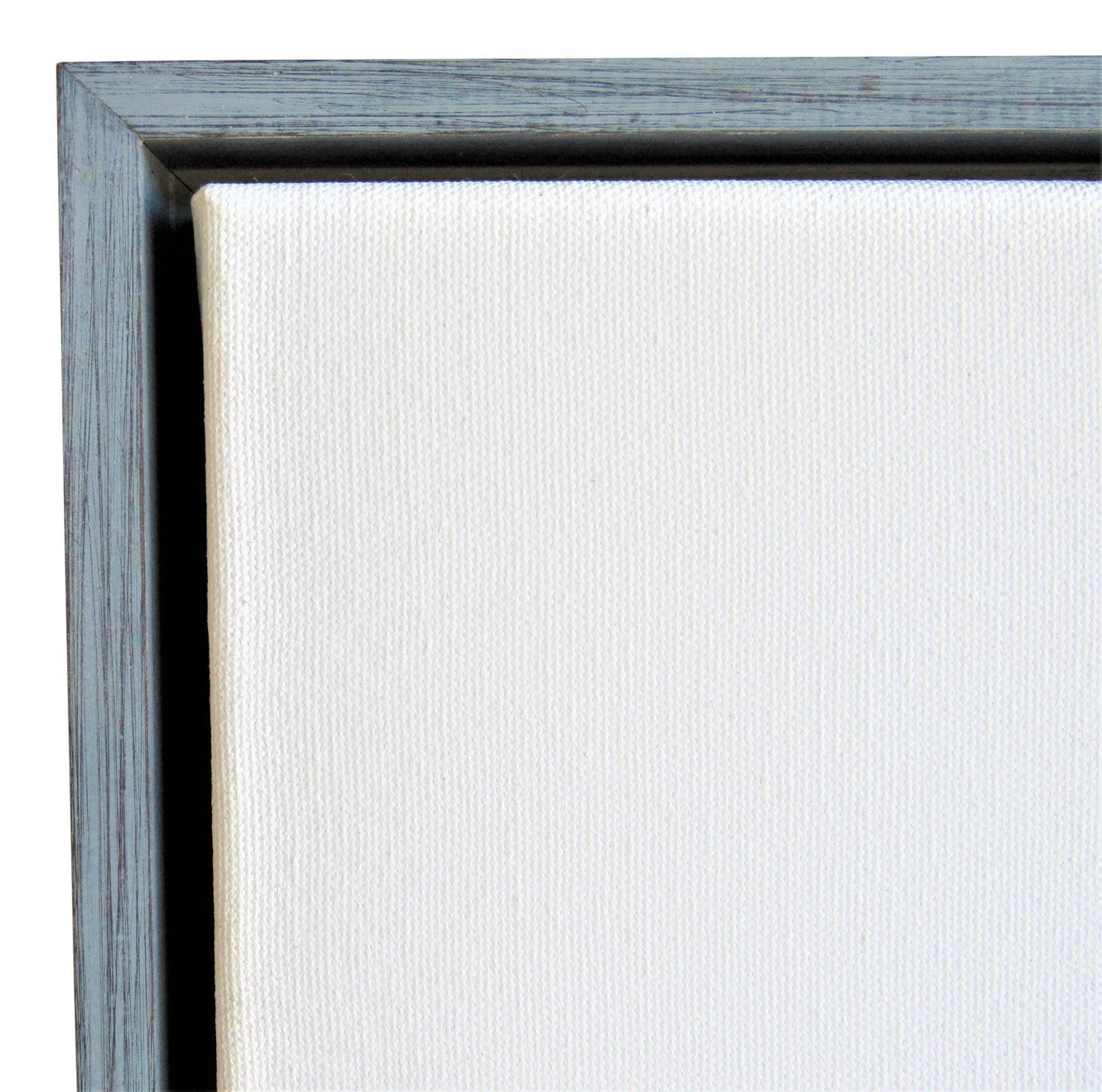 "Weathered Light Blue Floater frame for 1.5"" Canvas"