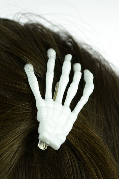 Skeleton Bone Hand Hair Clip