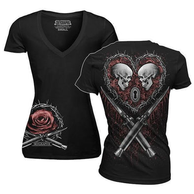 Til Death Ladies V-Neck T-Shirt