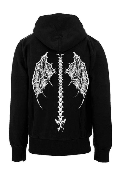 Demon Wings Zipper Hoodie