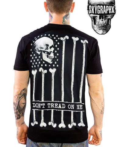 Bone Flag Dont Tread On Me Mens T-Shirt