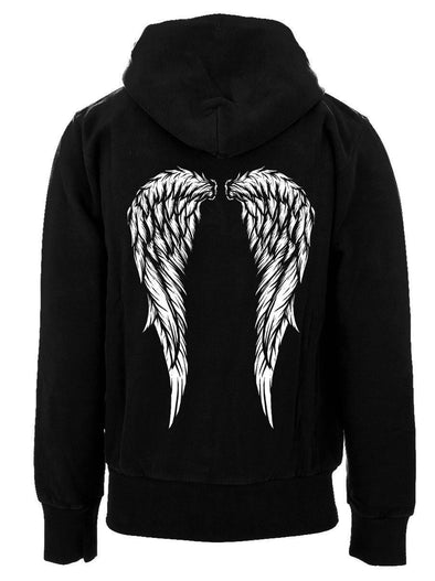 VampireFreaks Angel Wings Zip-Up Hoodie