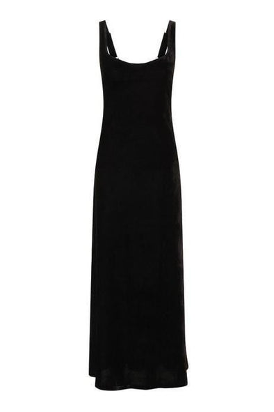 Venus Black Velvet Maxi Dress