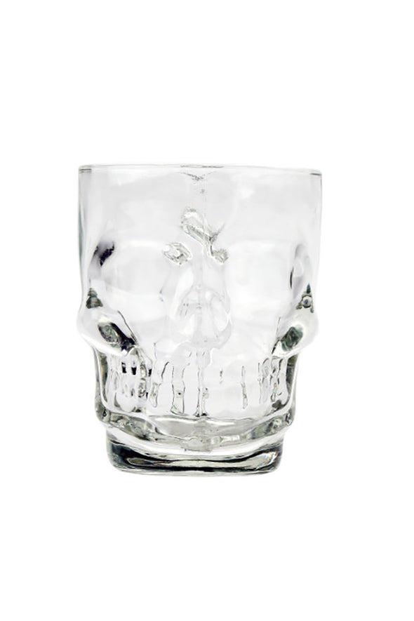 gothic skull pirate beer glass