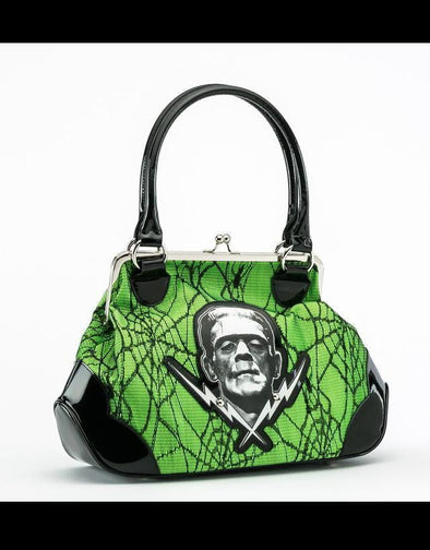 Frankenstein Lace Kisslock Hangbag Green