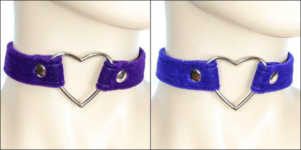 Heart Ring Velvet Collar - Vampirefreaks Store