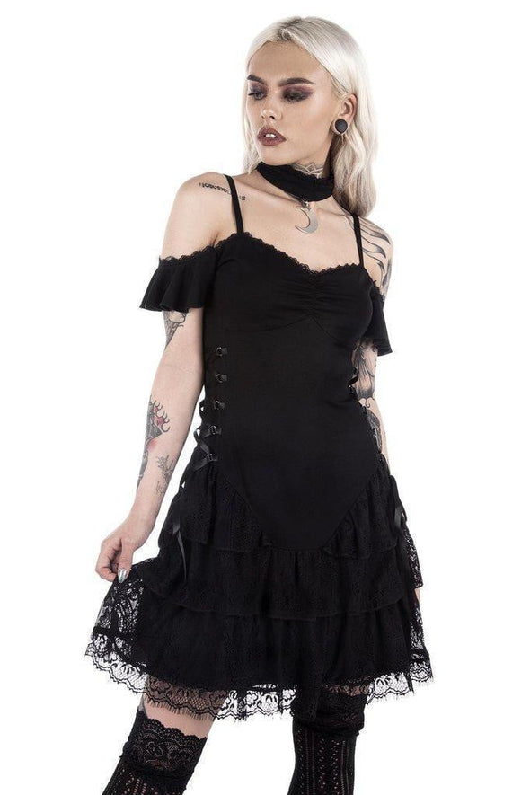 Killstar Ladies Black Magic Corset Dress