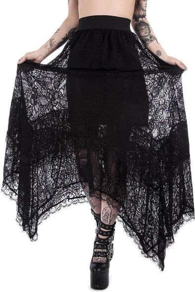 Killstar Ladies Morte Mistress Maxi Skirt