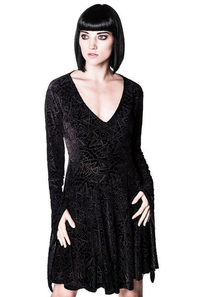 Killstar Burn Baby Burn Angel Sleeve Dress
