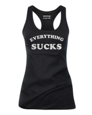 Everything Sucks - Tank Top Aesop Originals Clothing (Black) - Vampirefreaks Store