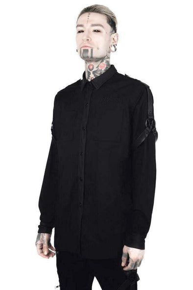 Killstar Death Wish Button-Up Shirt - Vampirefreaks Store