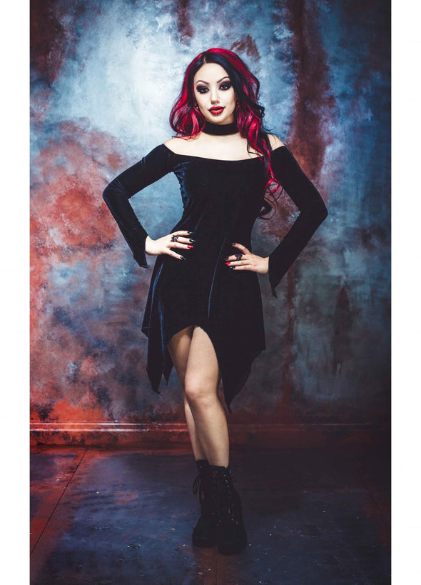 Necessary Evil Theia Velvet Choker Dress