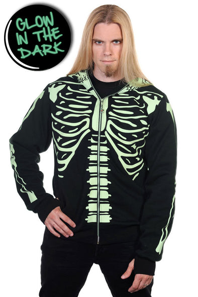 Glow in the Dark Skeleton Hoodie
