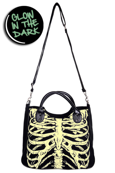 goth skeleton ribcage purse handbag
