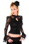 Black Lace Corset Shirt