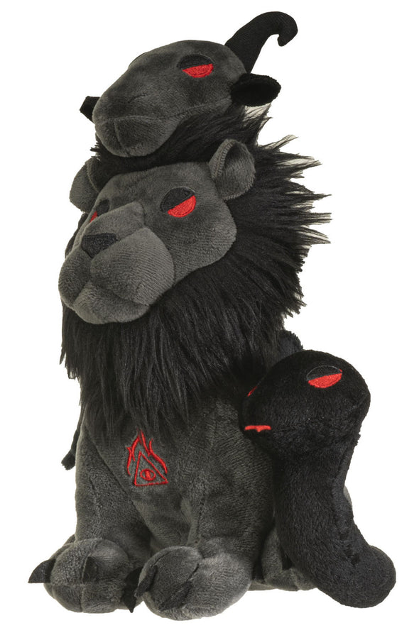 gothic lion plush toy