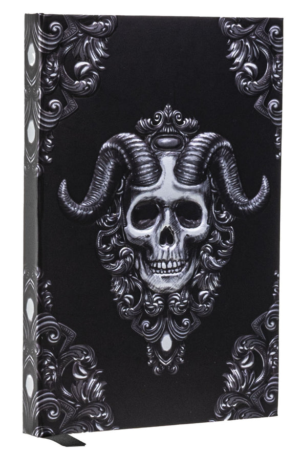 Victorian skull heavy metal journal