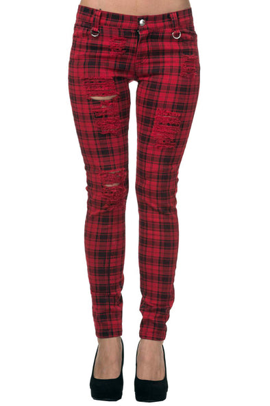 Ruby Red Plaid Pants