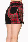 Walk The Line Shorts [Red Plaid + Black]