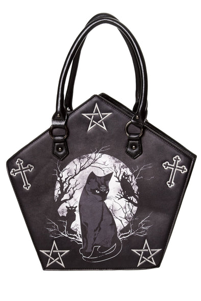 goth cat handbag purse