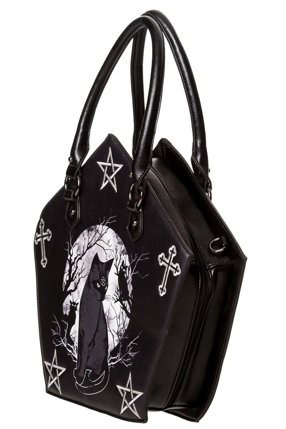 gothic pentagram purse shoulder bag handbag
