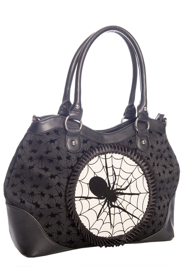 pinup retro vintage spider purse handbag