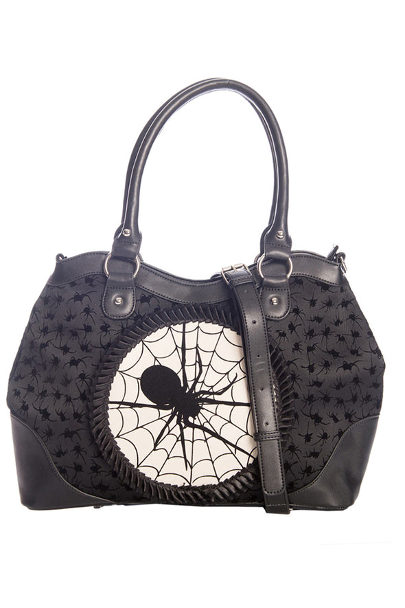 gothic spider handbag purse