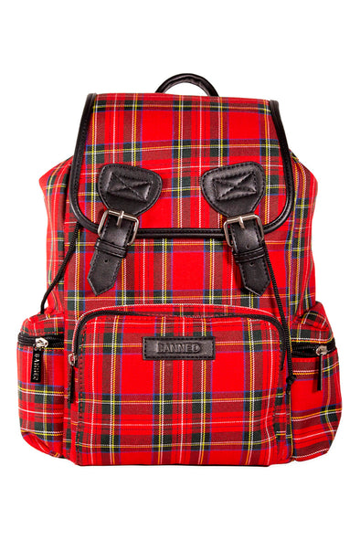 Mad Plaid Backpack [Red Plaid]