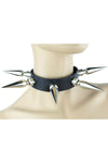"Epic 3"" Giant Spiked Leather Choker - Vampirefreaks Store"