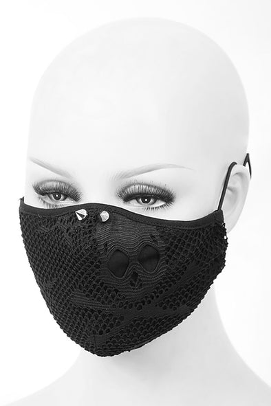 Devil Fashion Skull Mesh Spike Face Mask with 2 filters - Vampirefreaks Store