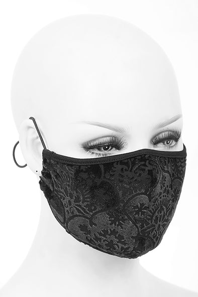 Devil Fashion Gothic Elegance Face Mask with 2 filters - Vampirefreaks Store