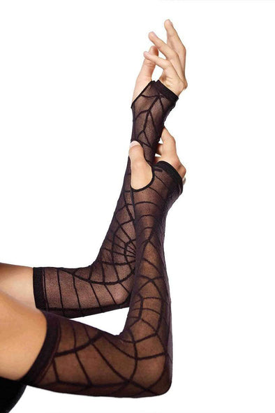Leg Avenue Spider Web Arm Warmers - Vampirefreaks Store