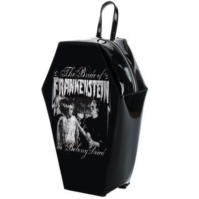 "Rock Rebel ""We Belong Dead"" Coffin Backpack - Vampirefreaks Store"