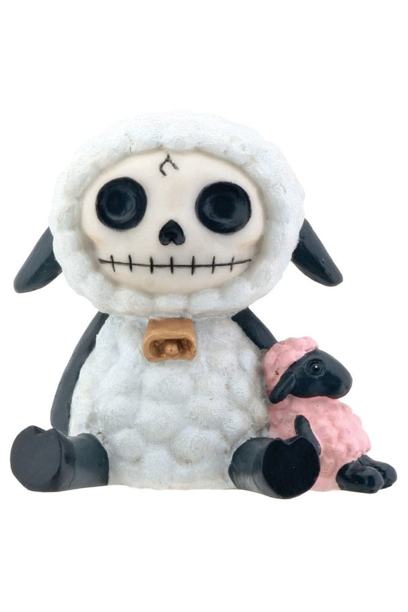 dead sheep goth statue toy figurine