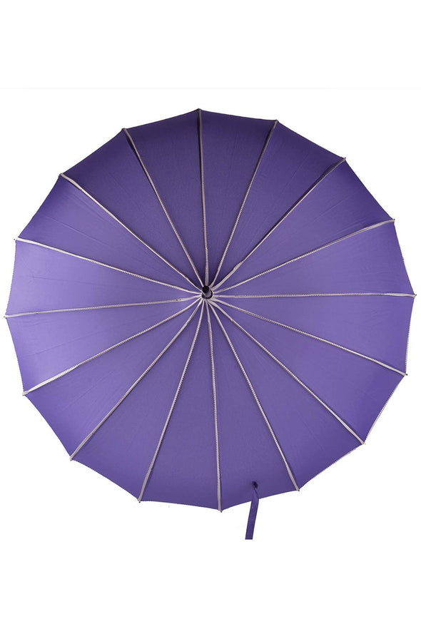 Purple Polka Dot Pagoda Umbrella