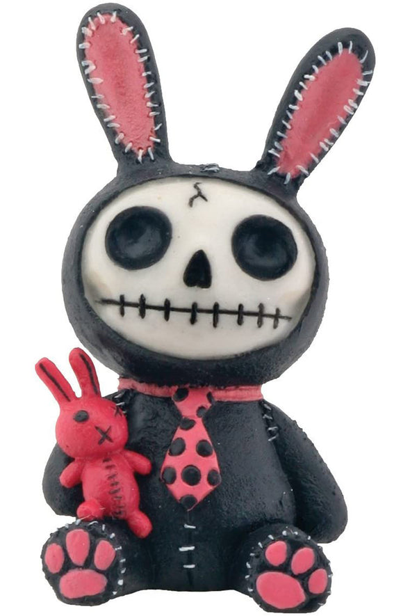 Goth emo bunny toy statue