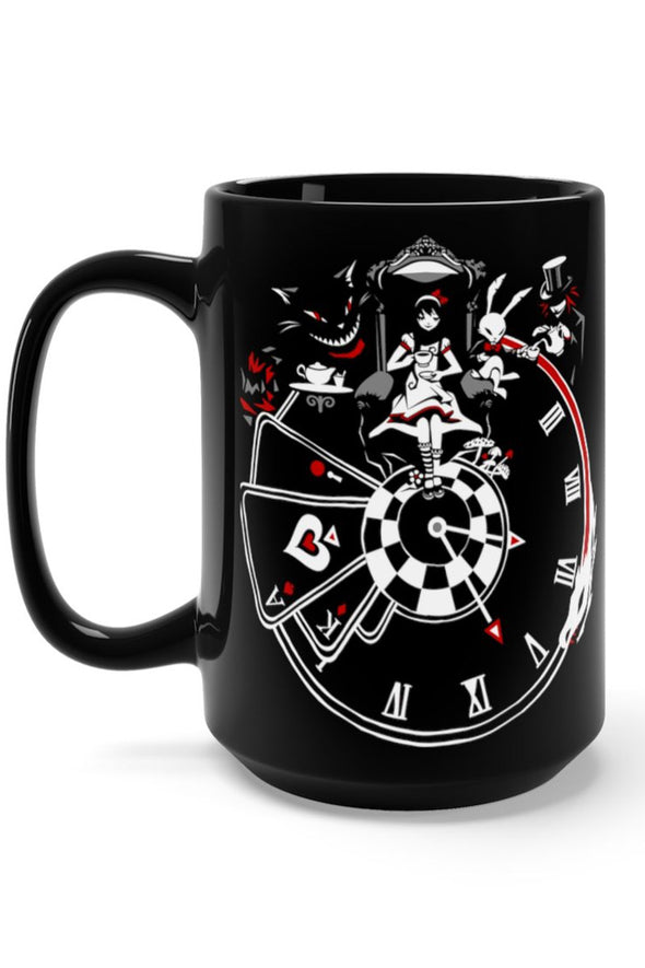 Alice in Wonderland Clock XL 15oz Coffee Mug