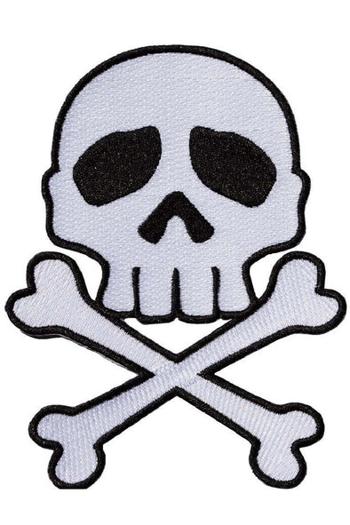 Kreepsville Skull Cross Bones Patch [White] - Vampirefreaks Store