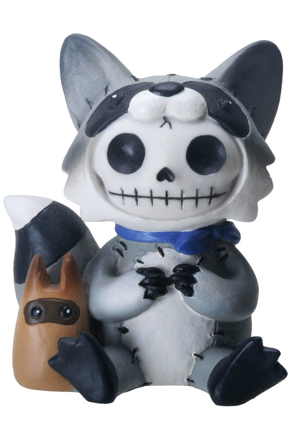 raccoon statue toy