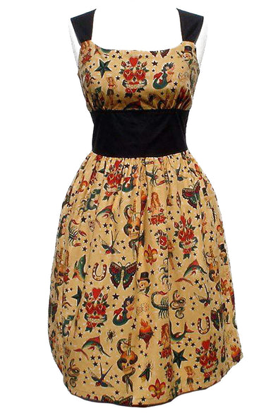 Riding Shotgun Vintage Tattoo Dress