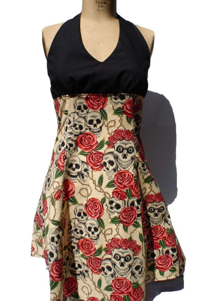 Skulls And Roses Rockabilly Dress