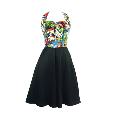 Monsters Dress w/ Classic Full Swing Skirt