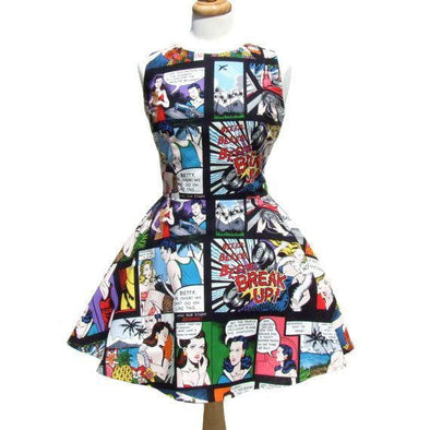 Comic Strip Skater Dress - Vampirefreaks Store
