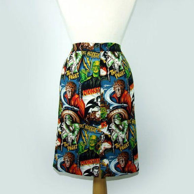 Horror Movie Hollywood Pencil Skirt