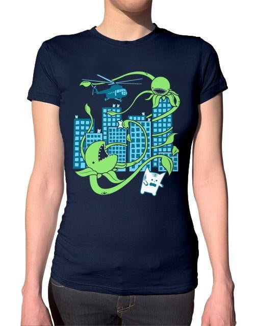 Killer Plant from Outer Space Ladies T-Shirt