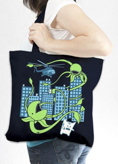 Killer Plant from Outer Space Tote Bag