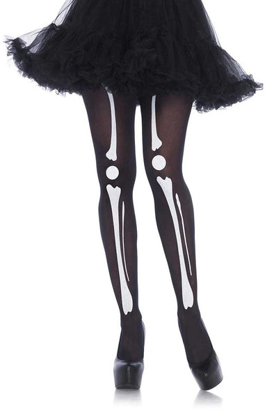 Leg Avenue Skeleton Print Tights - Vampirefreaks Store