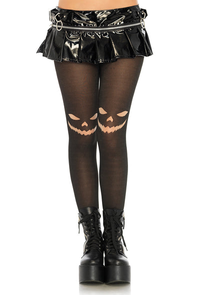 Jack O' Lantern Opaque Tights